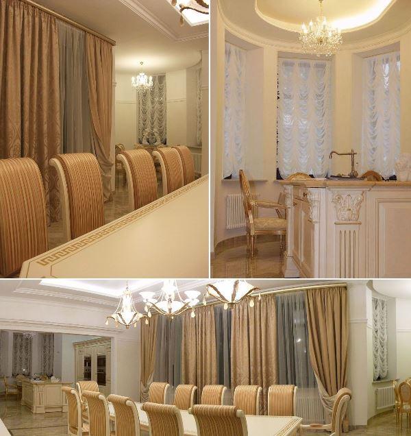 Элитные шторы для дома в классическом стиле