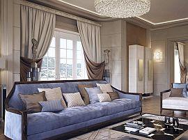 Фото 16 Шторы - дизайн в современном стиле классической гостиной