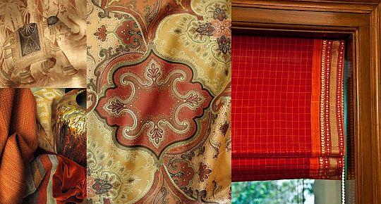 Шторы, дизайн на заказ - элитные ткани в красном цвете Фото 15