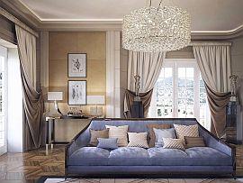 Фото 1 Шторы, дизайн на заказ для гостиной в сером бежевом цвете