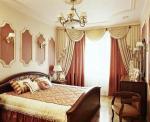 Шторы для классической спальни