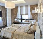 Шторы бархатные для спальни в стиле эклектика.